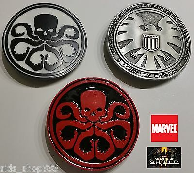 3 buckles Marvel Comics Agents of SHIELD and 2 HYDRA Logo Collectible Avengers