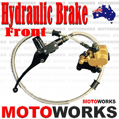 Hydraulic Front Disc Brake Caliper System+Pads 70cc 90cc 125cc PIT PRO Dirt Bike