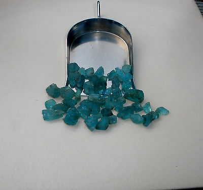 Blue Apatite crystal rough loose natural gem mix parcel over 50 carats