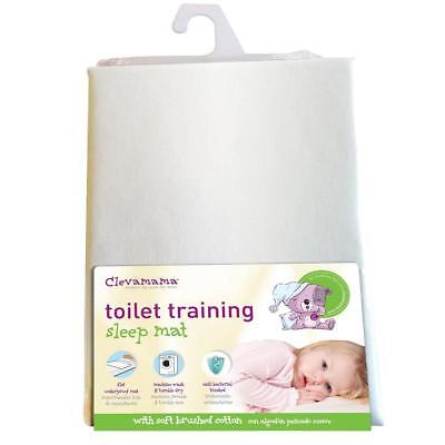 Clevamama Clevabed Brushed Cotton Toilet Training Sleep Mat (White) 90x70cm