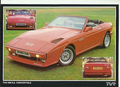 Tvr 390 Se Convertible 'sales Brochure'/sheet  Mid 80's