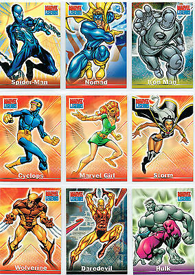 Marvel Legends Costume Change Cards Complete Set Of Level A