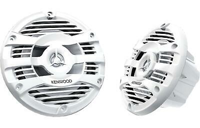 "New Kenwood KFC-1653MRW 6.5"" Inch 2-way Marine Boat Speakers Pair (White)"