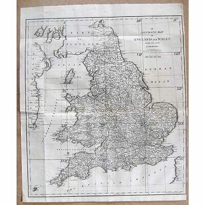 ENGLAND and WALES An Accurate Map from the Best Authorities by John Cary 1805
