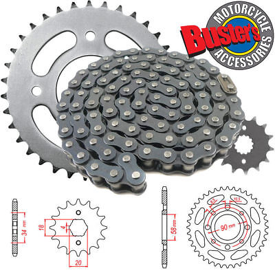 Heavy Duty Chain and Sprocket KIT Honda CG125 Brazil 1985-1992 JTKHCG125BA