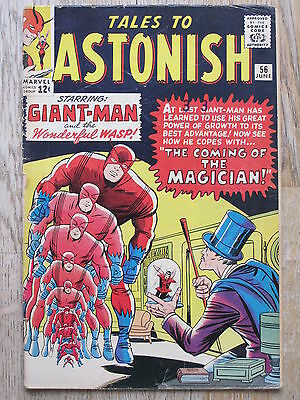Tales To Astonish #  56  Us Marvel 1964  Giant Man & Wasp   G+