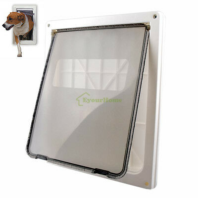 White XL Pet Safe Big Fat Cat Dog Lockable Door Gate Flap Door - Extra Large
