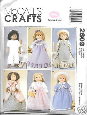 18 INCH DOLL CLOTHES NEW SEWING PATTERN MCCALLS 2609