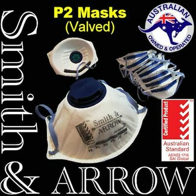 60x P2 FACE MASK SAFETY DISPOSABLE VALVED VALVE DUST PAINTING WELDING RESPIRATOR