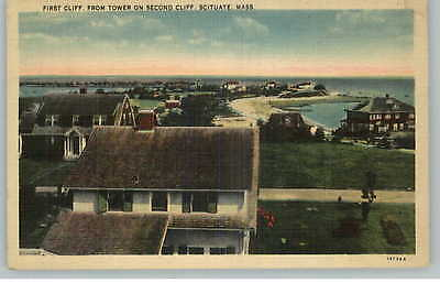 Scituate MA First Cliff Bldgs Homes Postcard