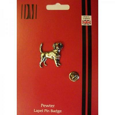 Silver Beagle Pet Dog Design Pewter Lapel Pin Badge Handmade In England Gift New
