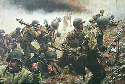 """Battle of Crucifix Hill"" Don Stivers Signed Print - WW II Aachen, Germany"