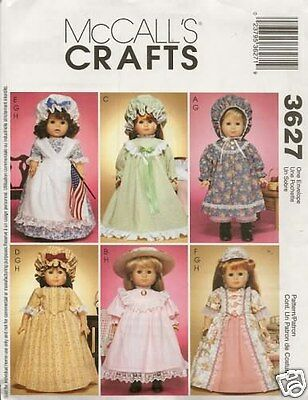 18 INCH DOLL CLOTHES NEW SEWING PATTERN MCCALLS 3627