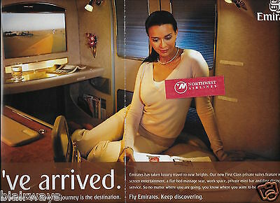 Emirates Airlines 2007 You've Arrived First Class Private Suite A380/777 2 Pg Ad