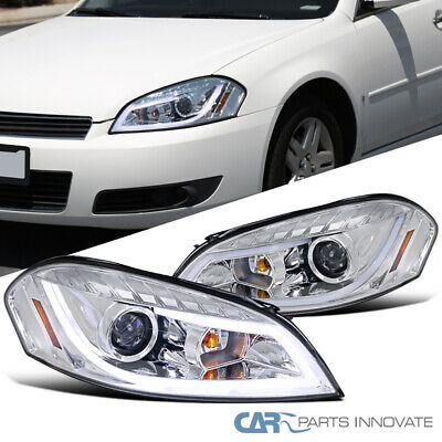06-13 CHEVY IMPALA//14-15 LIMITED CRYSTAL HEADLIGHTS LAMPS BLACK//AMBER W//10K HID