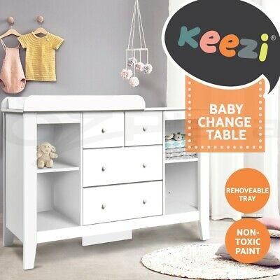 Change Table Baby Chest of Drawers Dresser Cabinet Changer Nursery