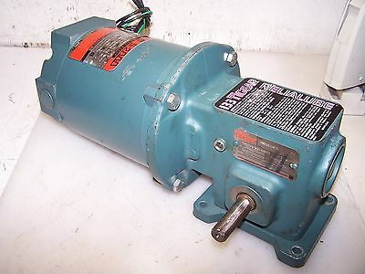 Reliance 1/3 Hp Ac Electric Gearmotor 208-230/460 Volt 20:1 Gear 86.25Output Rpm