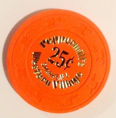 Peppermill's Western Village .25 Hot Stamp Casino Chip Sparks Nevada