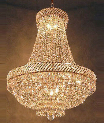 """French Empire Crystal Chandelier Chandeliers Lighting H26"""" X W23"""""""