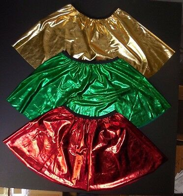 NWOT Metallic Spandex Dance Costuming Skirt Great Holiday Colors Tap Show adult