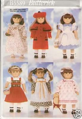 18 INCH DOLL CLOTHES NEW  SEWING PATTERN BUTTERICK 5589
