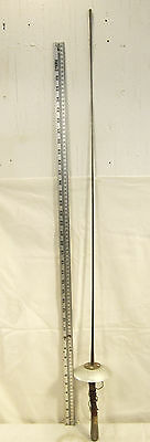 """VINTAGE ANTIQUE RARE SILVER FENCING SWORD MADE IN FRANCE MARKED # 5 43"""" LONG"""