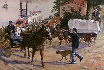 """""""Arrival at Fort Leavenworth 1882 """" Don Stivers Commemorative Edition Print"""