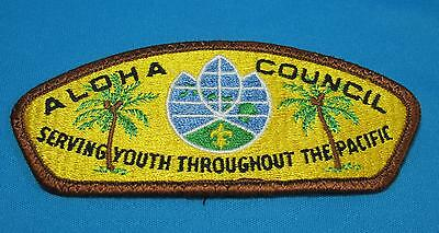 Vintage Boy Scouts America BSA Aloha Serving Pacific Council Embroidered Patch