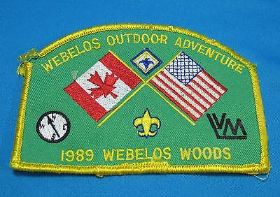 Vtg Boy Scouts America BSA Webelos Woods Adventure 1989 Canada Embroidered Patch