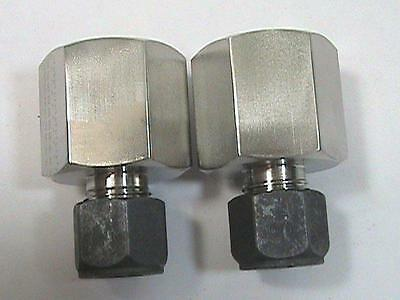 """2ea Parker 6-8 GBZ-SS CPI Female Connector 3/8"""" OD Tube Fitting x 1/2 FNPT 316SS"""