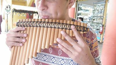 Professional Aymara Pan Flute 21 Pipes See Video  From Peru