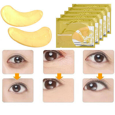 Ladies Golden Skiny Collagen Moisture Anti Wrinkle Eye Mask Eyelid Patch