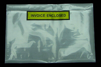 500 PCS Clear 150x230mm Invoice Enclosed Print Envelope Document Sticker Pouch