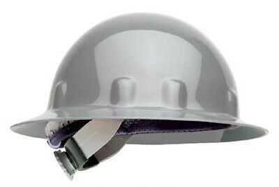 Fibre-Metal Gray Full Brim Supereight Hard Hat with Ratchet Suspension