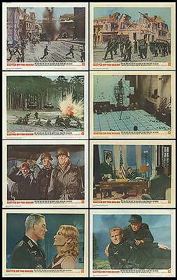 BATTLE OF THE BULGE orig 1965 lobby card set ARMORED TANKS 11x14 movie posters