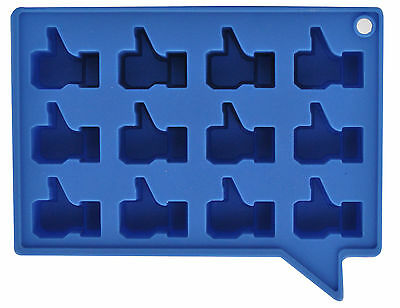 Thumbs Up Blue Silicone Novelty Ice Cube Mould Tray Social Media New