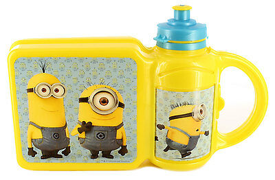 New Boys/Childrens Yellow Despicable Me, Minions Plastic Lunch Boxes.UKSize1