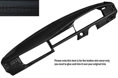 Black Stitching Dash Dashboard Leather Skin Cover Fits Mercedes W201 190 190E