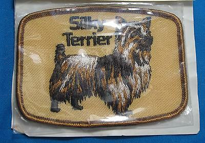 Silky Terrier Dog Brown Tan Golden Orange Embroidered Cloth Patch Superior Pet
