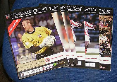 Brentford Home Programmes 2003-2004