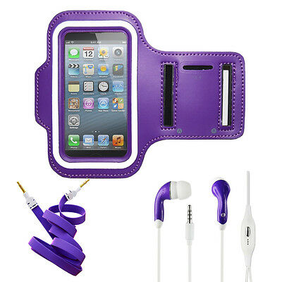 Armband Purple Case 2X, Stereo Kit for Samsung Galaxy Note Edge.