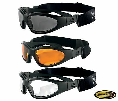 Bobster GXR Motorcycle Bike Cruiser Sunglasses Goggles