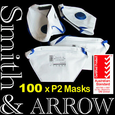 P2 Flat Fold Box Face Mask Safety Disposable Valved Valve Painting Respirator