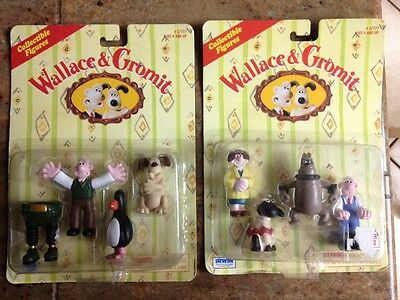 Wallace & Gromit - © 1989 Collectible Figures - # 57777 - NIB - 2 sets!