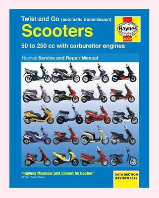 Haynes Manual for automatic Scooters most makes 50cc to 250cc