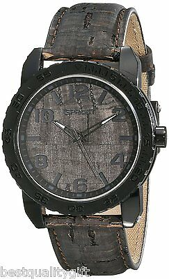 New-Sprout Black Natural Cork Strap And Dial,Corn Resin Case Watch St/7009Bkbk