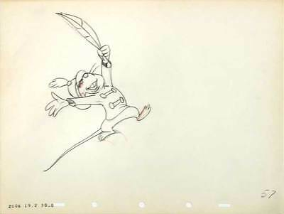 1941 Rare Original Walt Disney Dumbo Timothy Mouse #57 Production Cel Drawing Nr