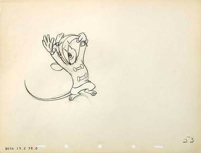 1941 Rare Original Walt Disney Dumbo Timothy Mouse #53 Production Cel Drawing Nr
