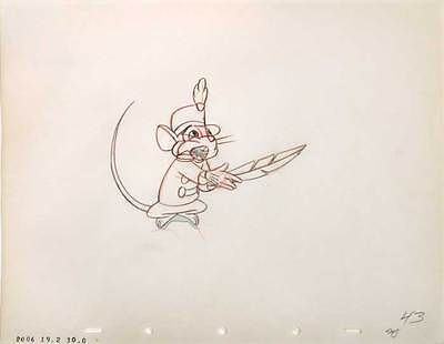 1941 Rare Original Walt Disney Dumbo Timothy Mouse #43 Production Cel Drawing Nr