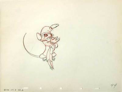 1941 Rare Original Walt Disney Dumbo Timothy Mouse #49 Production Cel Drawing Nr